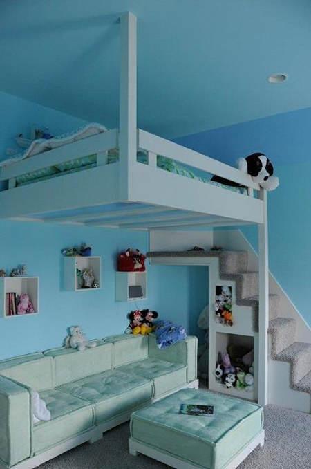 S per ideas deco para habitaciones infantiles peque as - Camas pequenas infantiles ...