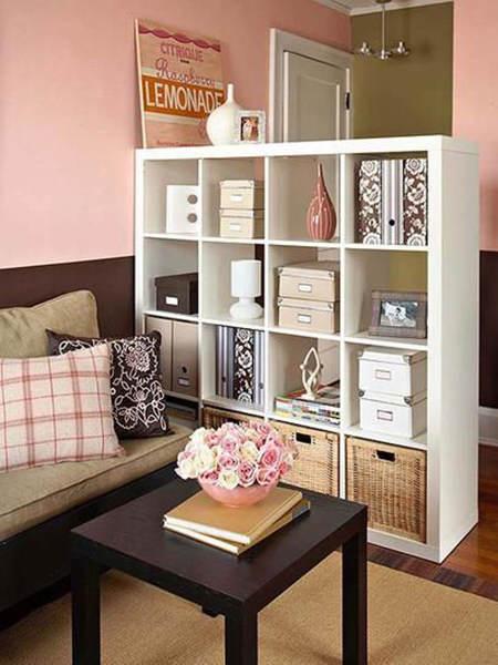 Ideas de decoraci n para dividir espacios el blog de due - Como colocar estanterias ...