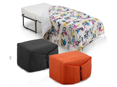 10 muebles 2 en 1 de duehome aprovecha tu espacio el for Puff cama 1 plaza