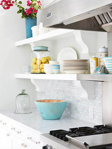 Es tendencia en decoraci n cocinas con estantes abiertos for Muebles de cocina sueltos