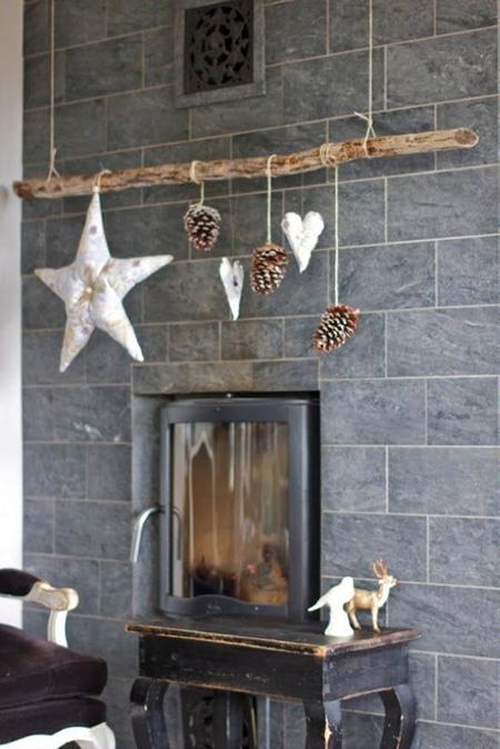 Una rama completa tu decoración para esta navidad