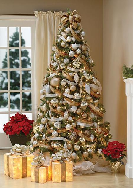 Ideas originales para decorar el rbol de navidad el - Arbol de navidad hecho de luces ...