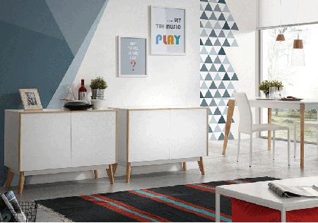una estancia blanca decorada con tintes nórdicos