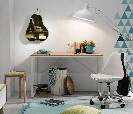 el escritorio minimalista y natural