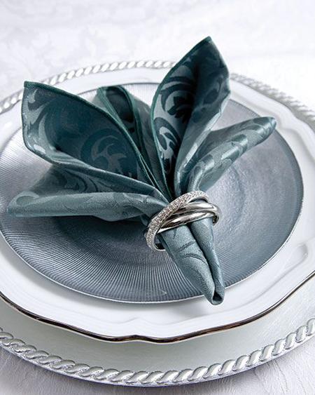 doblado de servilletas elegantes