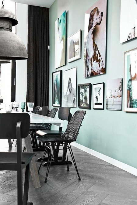 Decorar con verde mint