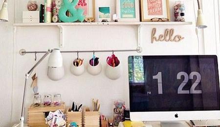 C mo decorar la oficina con alegr a el blog de due home for Decorar un despacho femenino
