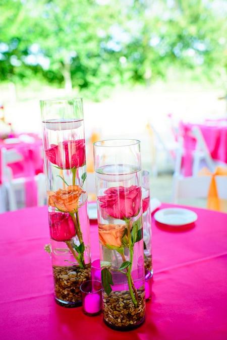 decorar con flores sumergidas