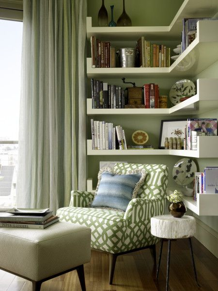 Ideas para decorar con estanter as esquineras el blog de Reading nook in living room