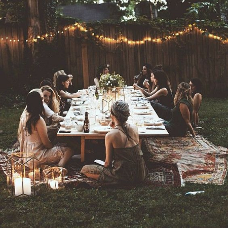 mesa al estilo boho chic