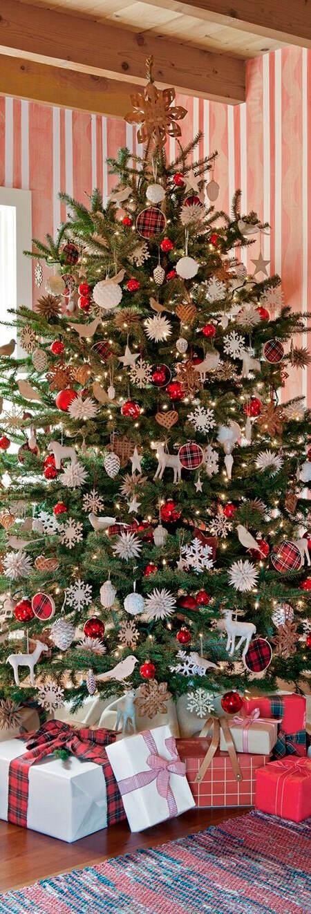 Decorar El Arbol Con Cintas.10 Maneras De Decorar Un Arbol De Navidad Clasico Blog