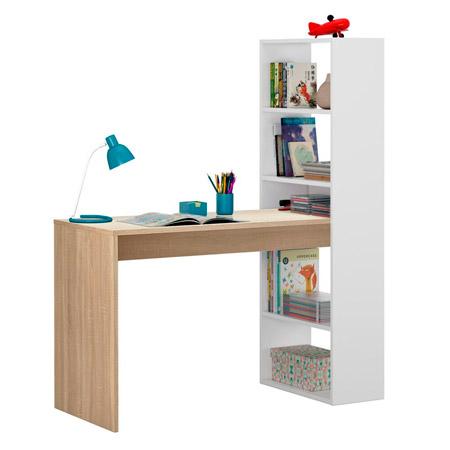 mesa de escritorio con estanteria duplo 4