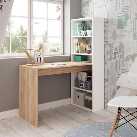 mesa de escritorio con estanteria duplo 5