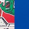 Sticker Blanco Azul DRW