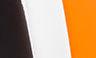 Multicolor: Negro, blanco y naranja